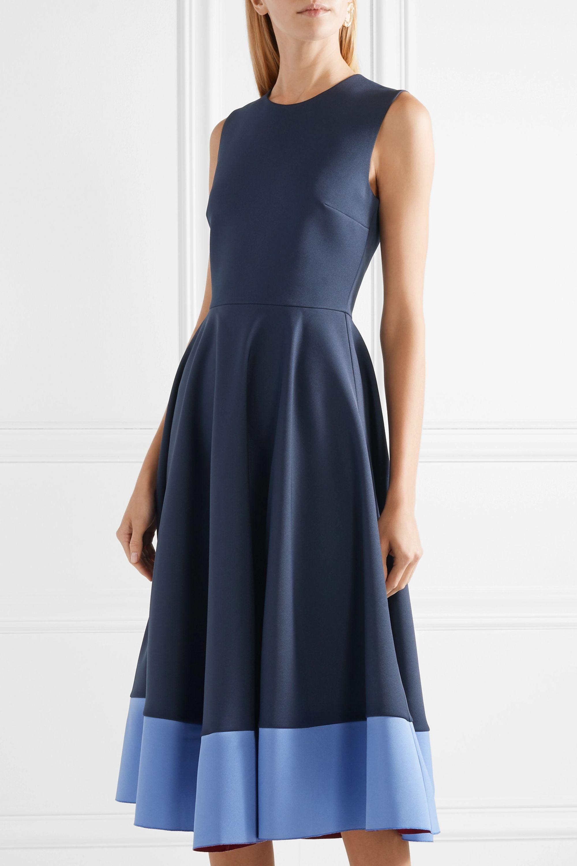 Roksanda Athena pleated two-tone crepe midi dress