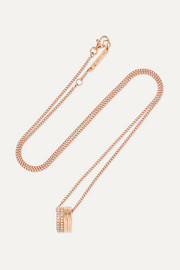 Antifer 18-karat rose gold diamond necklace