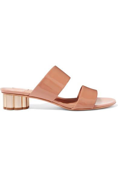 Women'S Belluno Floral Heel Slide Sandals in Blush