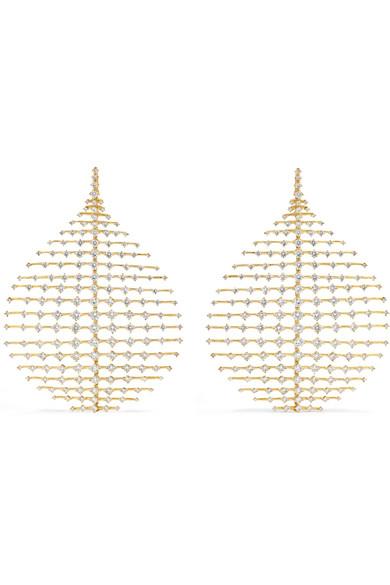 FERNANDO JORGE DISCO 18-KARAT GOLD DIAMOND EARRINGS