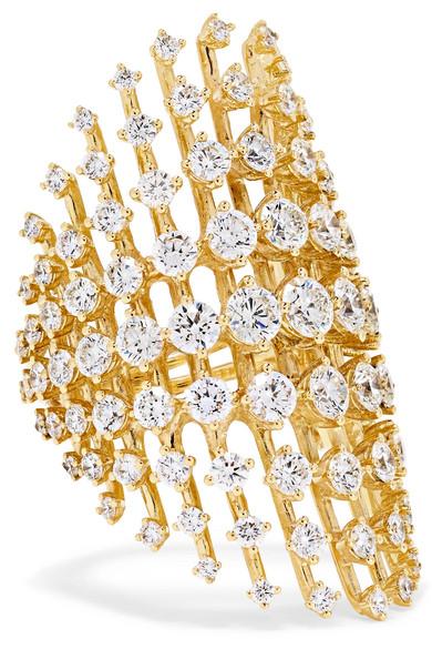 FERNANDO JORGE DISCO 18-KARAT GOLD DIAMOND RING