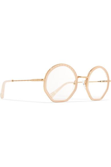 8967a803 Chloé | Tilda round-frame acetate and gold-tone optical glasses ...
