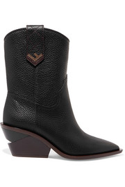 Fendi Textured-leather  boots