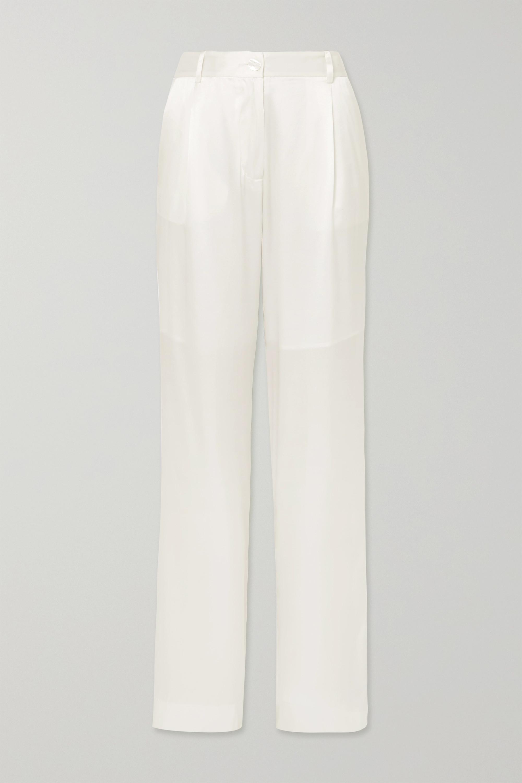 Michael Lo Sordo Silk-satin straight-leg pants