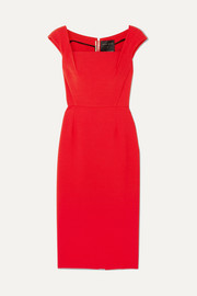 Maltock stretch-crepe dress