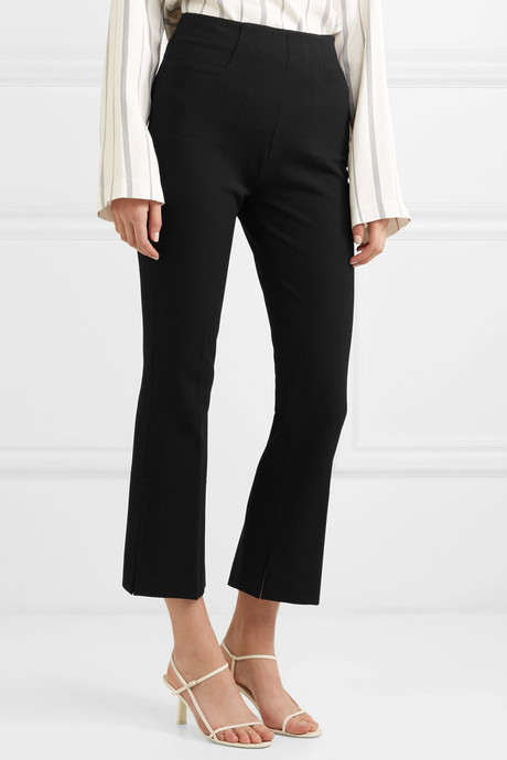 Goswell cropped crepe flared pants