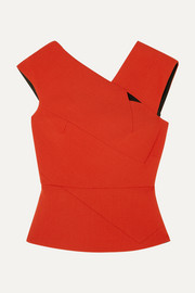 Roland Mouret Florence cutout wool-crepe top