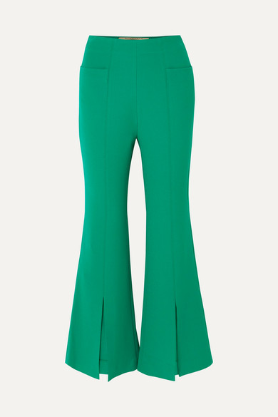 Danesfield Cropped Stretch Crepe Flared Pants by Roland Mouret