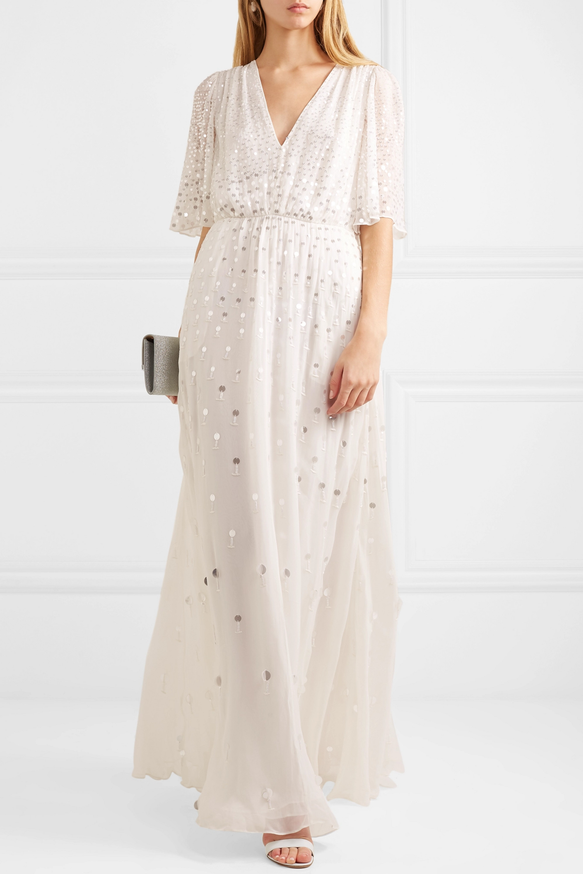 Temperley London Topiary sequined chiffon gown