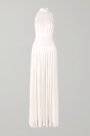Temperley London Pleated sequined chiffon gown
