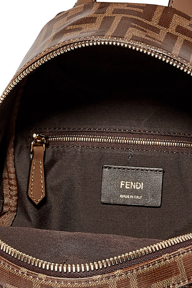 e0cc10054 Fendi | Leather-trimmed printed coated-canvas backpack | NET-A ...