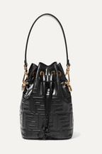 3562666ebb16 Fendi Mon Trésor small embossed leather bucket bag