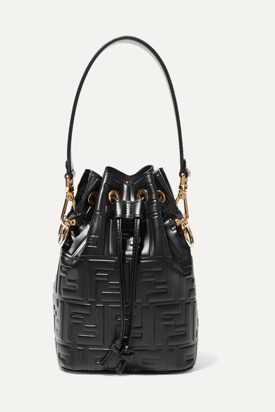3be30c79c031 Fendi. Mon Trésor small embossed leather bucket bag