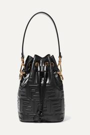 펜디 몽트레져 버킷백 스몰 블랙 Fendi Mon Tresor small embossed leather bucket bag