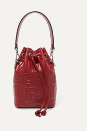 Mon Trésor small embossed leather bucket bag