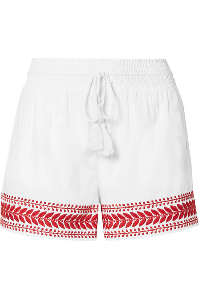 J.Crew - Embroidered Cotton-voile Shorts - White