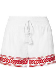 J.Crew Embroidered cotton-voile shorts