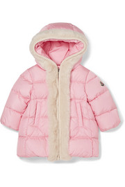 Ages 6 months - 2 years Ata hoooded faux fur-trimmed quilted shell down jacket