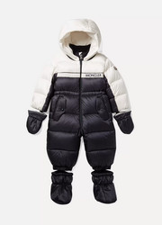 Months 6 - 24 Frazer two-tone quilted shell down snow suit