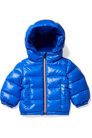 Ages 6 months - 3 years Aubert hooded quilted glossed-shell down jacket