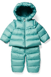 Months 3 - 24 Rorotea hooded quilted shell down jacket and pants set