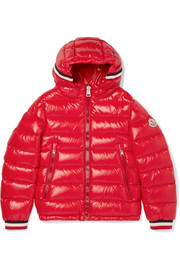 Ages 8 - 10 Alberic hooded quilted glossed-shell down jacket
