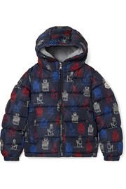 Ages 8 - 10 Chamaloc quilted printed shell down jacket