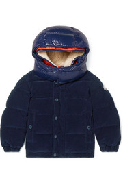 Ages 4 - 6 Chaumont quilted shell-trimmed cotton-corduroy down jacket