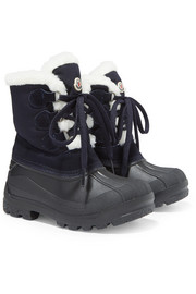 Size 28-38 Christian fleece-lined suede, shell and rubber snow boots