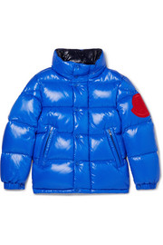 Ages 8 - 10 Dervaux appliquéd quilted shell down jacket