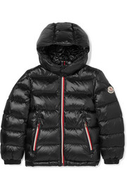 Ages 8 - 10 Gastonet hooded quilted shell down jacket