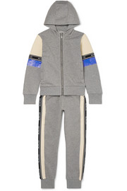 Ages 8 - 10 striped cotton-jersey tracksuit