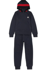 Ages 8 - 10 cotton-jersey and wool-blend tracksuit