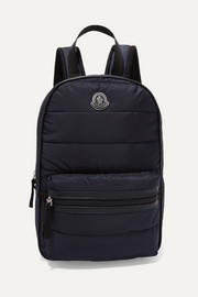 Petit George leather-trimmed quilted shell and mesh backpack