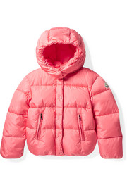 Ages 8 - 10 Caille hooded quilted shell down jacket