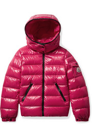 Ages 8 - 10 Bady hooded glossed-shell down jacket