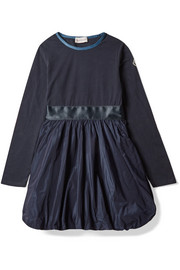 Ages 8 - 10 cotton-blend jersey and satin-shell dress