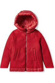 Ages 8 - 10 Mareva hooded wool-blend felt and quilted shell down jacket