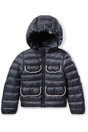 Ages 8 - 10 Tahiata ribbed-knit trimmed quilted shell down jacket