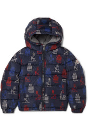Ages 4 - 6 Chamaloc printed quilted shell down jacket