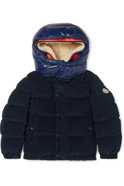 Ages 8 - 10 years Chaumont hooded quilted cotton-corduroy and glossed-shell down jacket