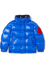 Ages 4 - 6 Dervaux appliquéd quilted shell down jacket
