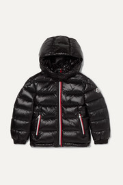 Ages 4 - 6 Gastonet hooded quilted glossed-shell down jacket