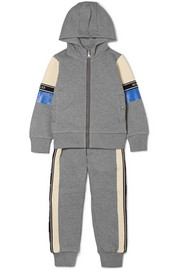 Ages 4 - 6 striped cotton-jersey hoodie and track pants set