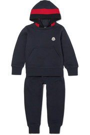 Ages 4 - 6  cotton-jersey and wool-blend tracksuit