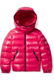 Ages 4 - 6 Bady hooded quilted glossed-shell down jacket