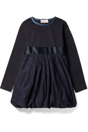 Ages 4 - 6 cotton-blend jersey and satin-shell dress