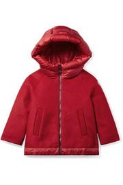 Ages 4 - 6 Mareva hooded wool-blend felt and quilted shell down jacket