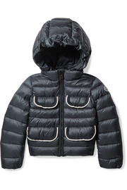 Ages 4 - 6 Tahiata hooded ribbed-knit trimmed quilted shell down jacket