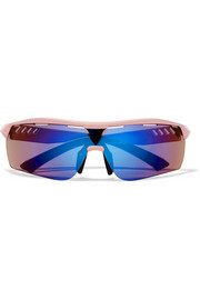 Stella McCartney Turbo Wrap D-frame acetate mirrored sunglasses